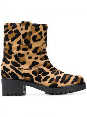 Ботинки с леопардовым принтом P.A.R.O.S.H.. Цвет: нейтральные цвета