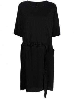 Платье с плетеным ремешком Pierantoniogaspari. Цвет: черный