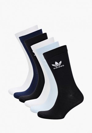 Носки 6 пар adidas Originals. Цвет: разноцветный