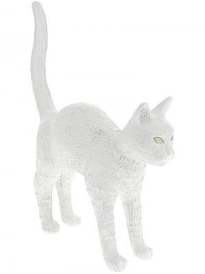 Настольная лампа Jobby the Cat Seletti. Цвет: белый