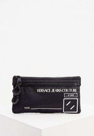 Сумка поясная Versace Jeans Couture. Цвет: черный