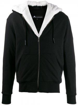 Куртка с искусственным мехом Moose Knuckles. Цвет: черный
