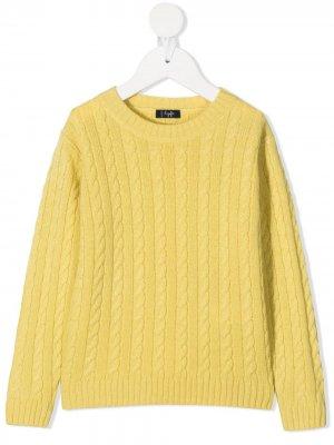 Джемпер фактурной вязки Il Gufo. Цвет: желтый