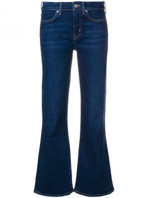 Расклешенные укороченные джинсы Mih Jeans. Цвет: синий