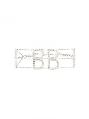 Чокер украшенный кристаллами Brave Barbara Bologna. Цвет: металлик