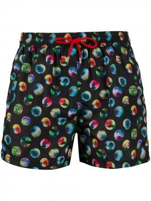 Пляжные шорты с принтом PAUL SMITH. Цвет: черный