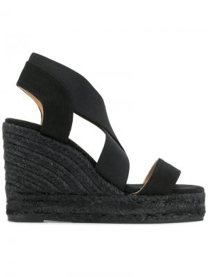 Espadrille wedge sandals Castañer. Цвет: черный