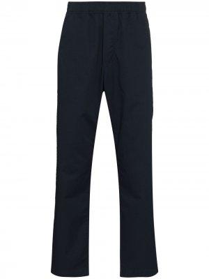 Прямые брюки Stanley Wood. Цвет: синий