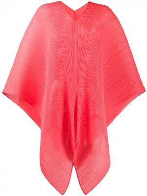 Объемный плиссированный шарф Pleats Please Issey Miyake. Цвет: красный