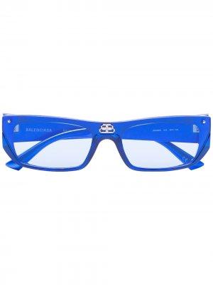 Солнцезащитные очки в прямоугольной оправе Balenciaga Eyewear. Цвет: 3 голубой