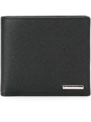 Классический бумажник Ermenegildo Zegna. Цвет: черный