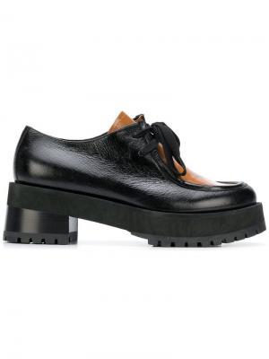 Туфли-оксфорды на массивном каблуке Marni. Цвет: черный