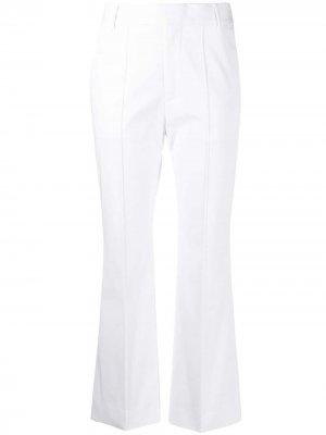 Прямые брюки с завышенной талией Plan C. Цвет: белый