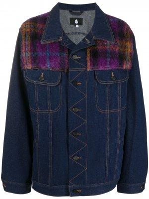 Джинсовая куртка в клетку Natasha Zinko. Цвет: синий