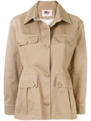 Куртка в стиле милитари с карманами Ports 1961. Цвет: коричневый