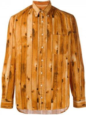 Рубашка с принтом Gitman Vintage. Цвет: коричневый