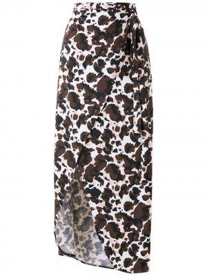 Пляжная юбка Melissa с анималистичным принтом Brigitte. Цвет: разноцветный