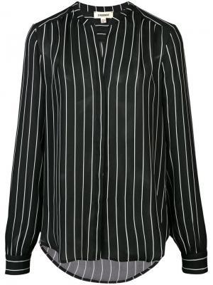 Рубашка в полоску L'agence. Цвет: черный