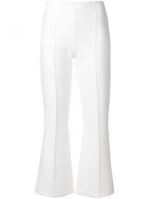 Укороченные брюки клеш Sonia Rykiel. Цвет: белый