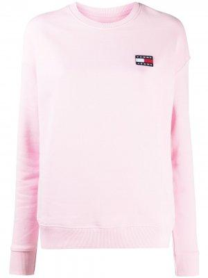 Джемпер с нашивкой-логотипом Tommy Jeans. Цвет: розовый