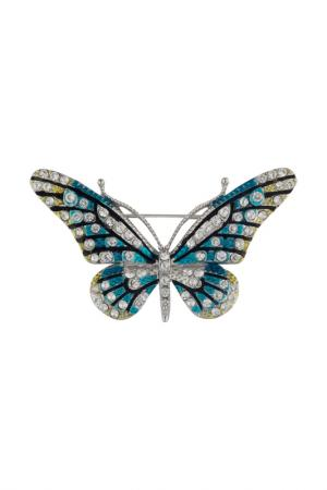 Брошь Бабочка SHADORE. Цвет: синий