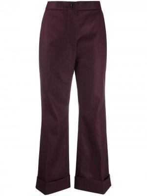 Укороченные брюки широкого кроя Marni. Цвет: красный