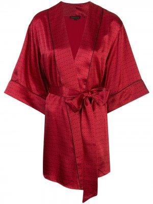 Халат с принтом Kiki de Montparnasse. Цвет: красный