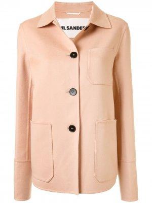 Кашемировая куртка-рубашка Jil Sander. Цвет: оранжевый