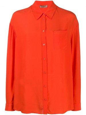 Рубашка с длинными рукавами Twin-Set. Цвет: оранжевый