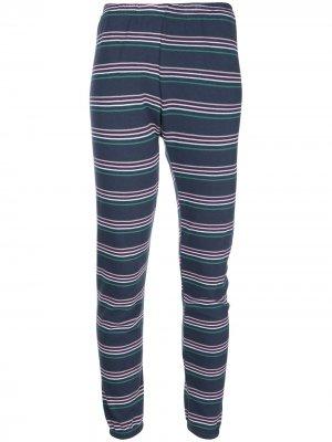 Спортивные брюки Cheri в полоску Wildfox. Цвет: синий