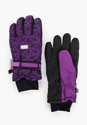 Перчатки TuTu. Цвет: фиолетовый