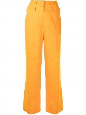 Расклешенные брюки Laila с завышенной талией Rejina Pyo. Цвет: желтый