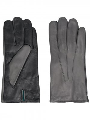 Двухцветные перчатки PAUL SMITH. Цвет: серый
