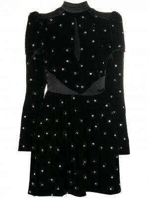 Вечернее платье с кристаллами Philosophy Di Lorenzo Serafini. Цвет: черный