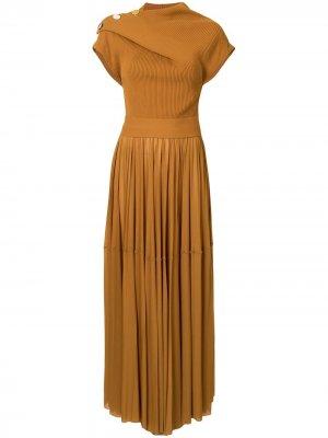Платье из джерси с драпировкой Proenza Schouler. Цвет: оранжевый