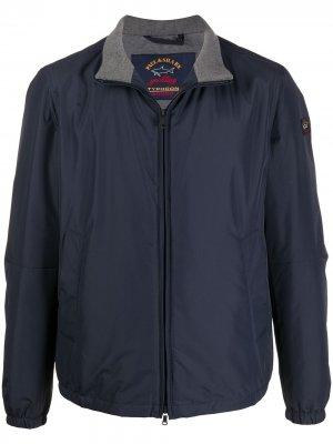 Куртка с логотипом и высоким воротником Paul & Shark. Цвет: синий