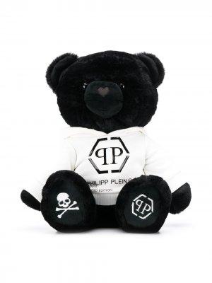 Мягкая игрушка в виде медведя с логотипом Philipp Plein Junior. Цвет: черный