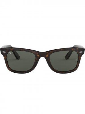 Солнцезащитные очки Wayfarer Ray-Ban. Цвет: коричневый