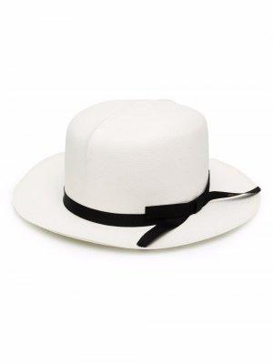 Соломенная шляпа Borsalino. Цвет: белый