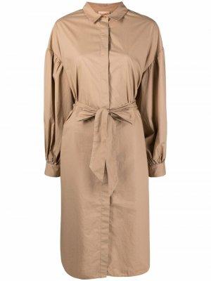 Платье-рубашка с завязками Nude. Цвет: нейтральные цвета
