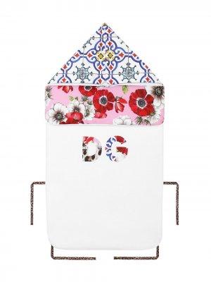 Конверт с цветочным узором Dolce & Gabbana Kids. Цвет: белый