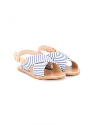 Сандалии с перекрещивающимися ремешками Ancient Greek Sandals. Цвет: синий