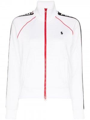 Спортивная куртка на молнии с логотипом Polo Ralph Lauren. Цвет: белый