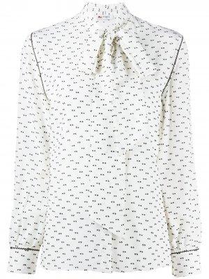 Рубашка с принтом и завязками Ports 1961. Цвет: белый