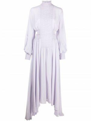 Платье со сборками CAMILLA AND MARC. Цвет: фиолетовый
