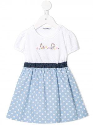 Платье с вышивкой Familiar. Цвет: белый