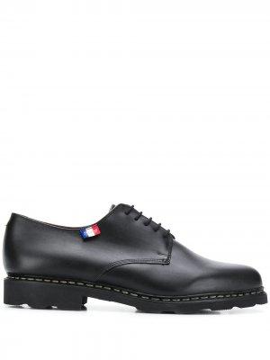 Туфли на шнуровке Paraboot. Цвет: черный