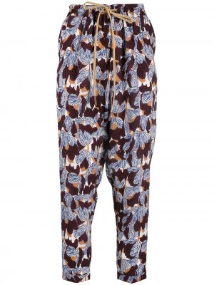 Укороченные брюки с завышенной талией Alysi. Цвет: белый
