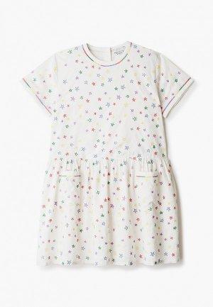 Платье Stella McCartney Kids. Цвет: бежевый