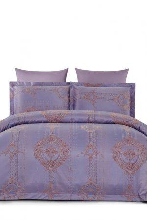 Постельное белье Евро ARYA HOME COLLECTION. Цвет: сливовый
